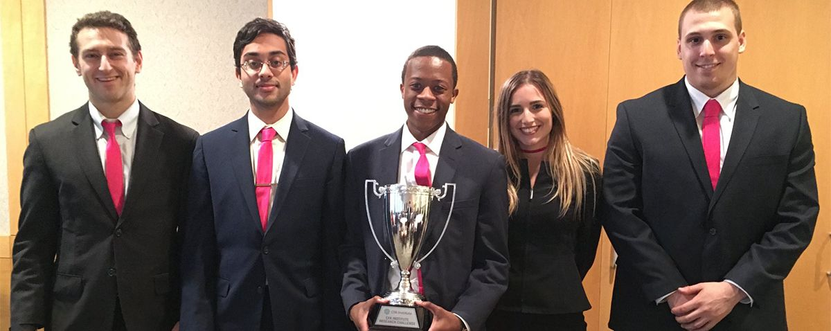 Congratulations! Weatherhead team wins local CFA Society competition - The team will move on to the regional competition in Seattle on April, 7