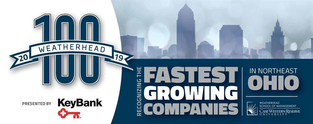 Weatherhead 100 2018, recognizing the fastest growing companies in Northeast Ohio, November 29, Hilton Hotel, presented by Key Bank
