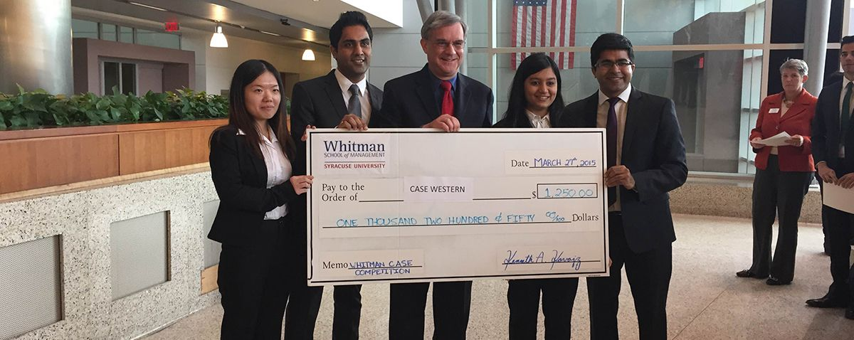 Weatherhead earns second place at Whitman case competition