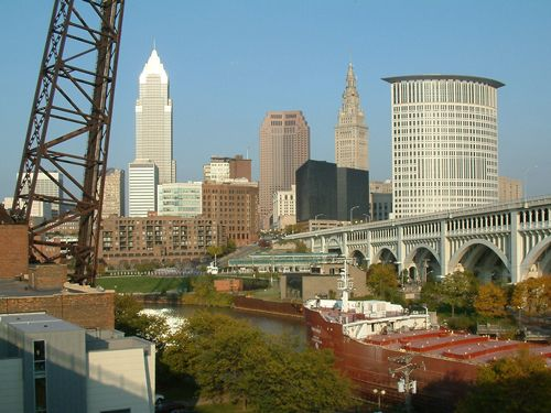 Cleveland, Ohio from the Superior Viaduct